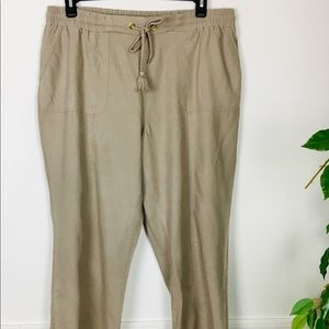 linen like casual tan pants 18/20